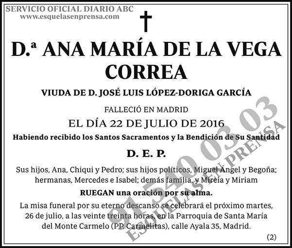 Ana María de la Vega Correa